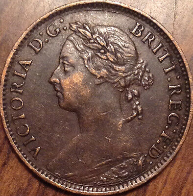 1893 Uk Great Britain Farthing Magnificent Example Almost Unc