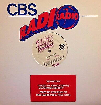 RADIO SHOW:ROCK CONNECTIONS w/MIKE HARRISON 10/2/87 LAST SHOW OF SERIES: THE END