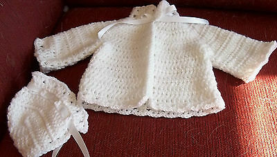 Baby Sweater and Bonnet