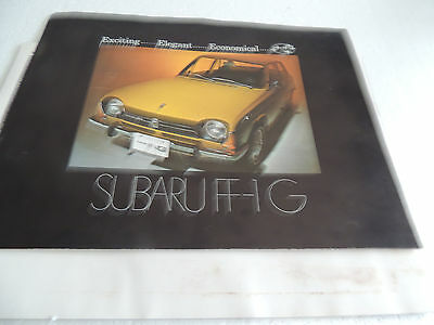 1970 & 71 Suburu FF1  Brochure  Fold out series