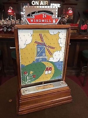 "1946 STANDARD GAMES Co. WINDMILL Penny Drop Trade Stimulator ""WATCH VIDEO"""