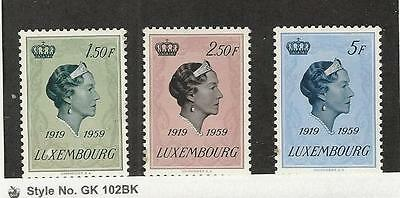 Luxembourg,  Postage Stamp, #346-348 Mint NH, 1959