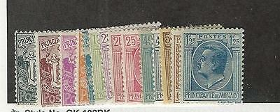 Monaco,  Postage Stamp, #60//84 Mint Hinged, 1924-1933 (14 Different)