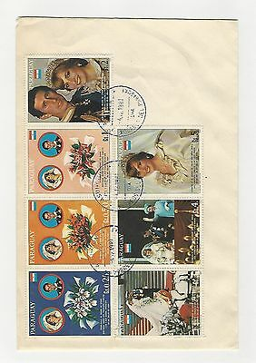 Paraguay, Postage Stamp, #2222-2222G FIrst Day Cover, 1981 Princess Diana