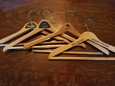 Lot Of 4 Vintage Wood Wooden Coat/Clothes Hangers ~  WI & MN Advertising