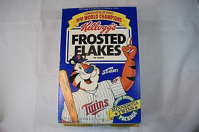 Vintage Kellogg's Frosted Flakes 1991 World Champion Minnesota Twins Cereal Box