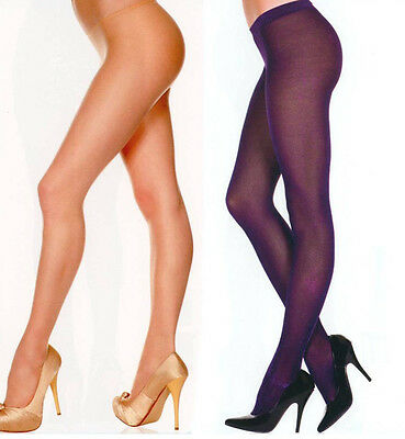Music Legs 332 Tights Sheer to Waist Low Rise Spandex Size Reg Black or Beige