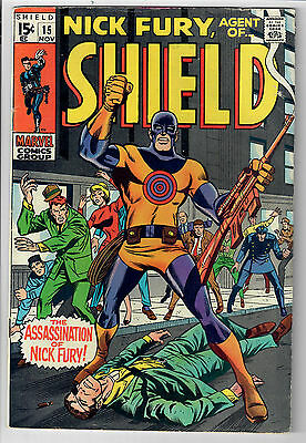 NICK FURY: AGENT OF S.H.I.E.L.D. #15 - Grade 7.0 - First Silver Age Bulls-Eye!
