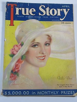 True Story Magazine April 1930- Free Shipping!