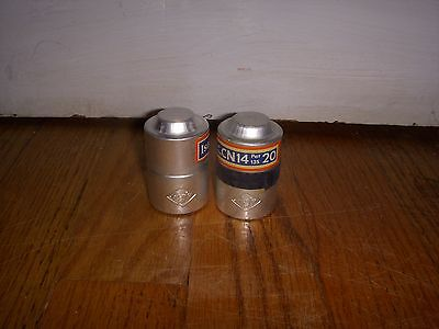 Lot Of 2 Vintage Agfa Film Canisters