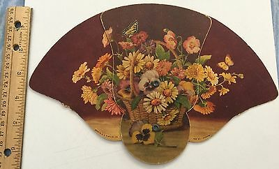 VINTAGE ADVERTISING FAN  A.C. Sowards Funeral Home New Boston Ohio Flowers