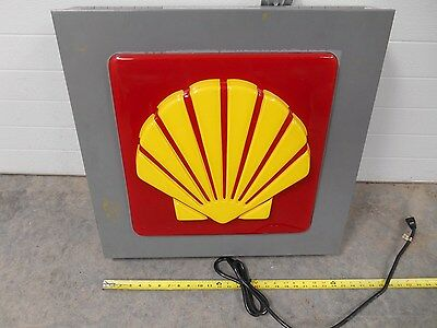 Shell gas station lighted gas sign canopy or building mounted 1 sided sign