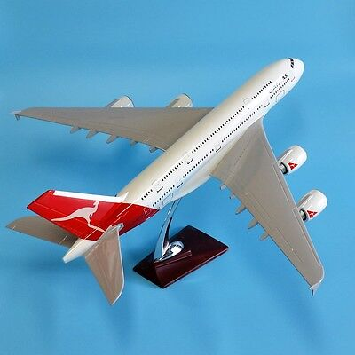 New 1:157 Fibreglass Resin Qantas Airbus A380 (hollow) Aircraft Plane Model 46cm