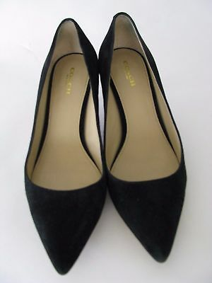 Coach Lacey Black Suede Pointed Toe Pump Classic! Size 8.5 B