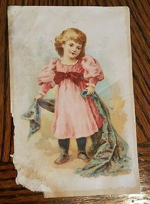 Lion Coffee Woolson Spice Toldedo OH Victorian Trade Card 1800's