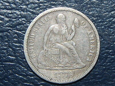 1876 Liberty Seated Dime Nice Silver Coin (380)