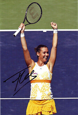 Flavia Pennetta Signed 8X12 Inches Tennis Photo