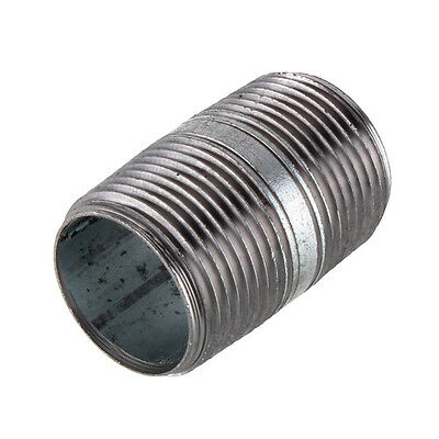 "1/2"" GALVANIZED STEEL 2""  LONG  NIPPLE fitting pipe npt 1/2 x 2 malleable iron"