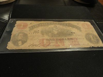 Csa Confederate Richmond Virginia Treasury One Dollar $1 Note July 21St 1862