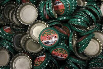 500 Forest City Special Amber Ale Beer Bottle Caps No Dents Green Red Fast Shp