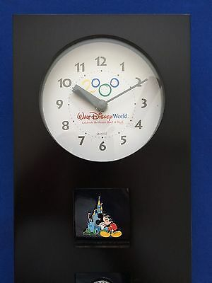 Disney Millennium Pin Club Member Exclusive World Pin Wall Clock MIB NEW
