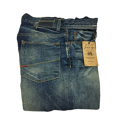 GILDED AGE men's jeans mod GA1011-QP WASH MEDIUM 100%cotton MADE IN ITALY