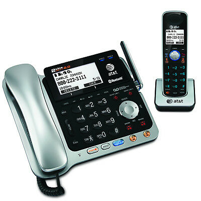 AT&T 2-Line Corded/Cordless Phone with Bluetooth Connect, Answering System