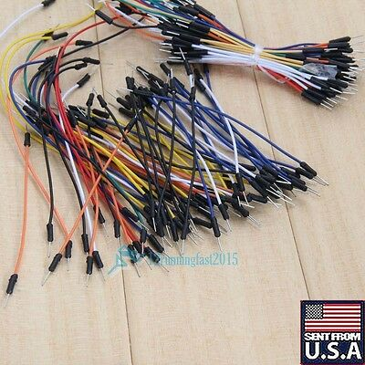 130PCS Male to Male Flexible stable Breadboard Jumper Cable Wires for Arduino