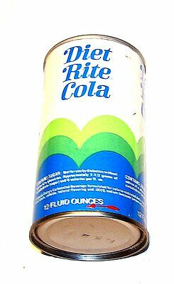 Diet Rite Cola RC Tab Pop Pull Top Soda Can 1/1+ Flat Beer Sign Clock MkOfr