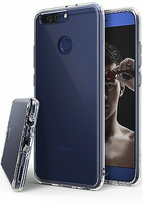 Huawei Honor 8 Pro Case, Ringke [FUSION] Shockproof Clear Cover Raised Bezels