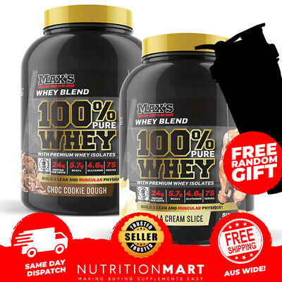 2 x Max's 100% Pure Whey - Protein Isolate WPI WPC Powder Maxs Super SuperWhey