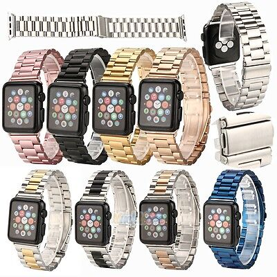 New Replacement Stainless Steel Strap Band Clasp for 42mm/38mm iWatch 9 Color
