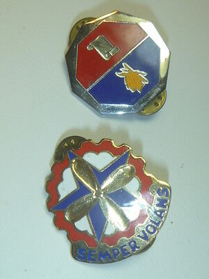 A    Lot of  2    U S Army D I Unit  Pins