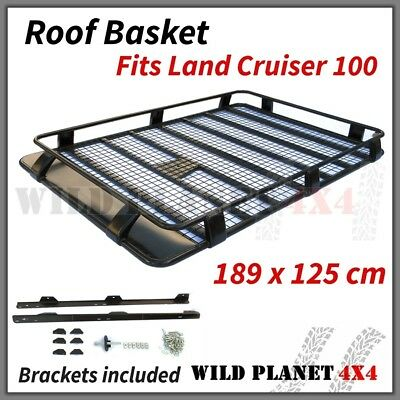 Roof Basket Fits TOYOTA Land Cruiser 100 Series Powder Coated Steel 4wd Luggage