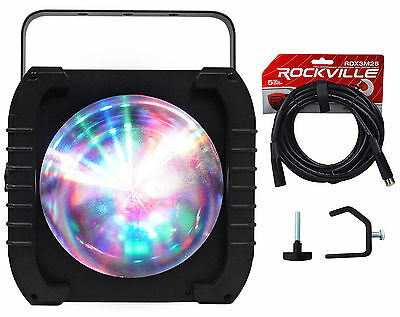American DJ ADJ REVO 4 IR RGBW DMX DJ/Club Light Moonflower FX+DMX Cable+Clamp