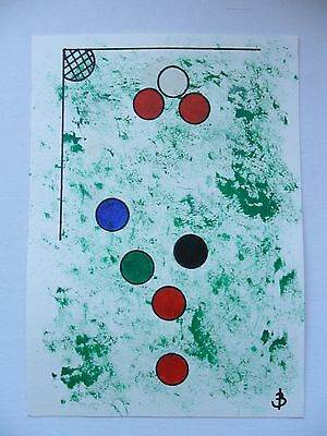 Chris Brooks Original Acrylic On Thick Paper 'snookered!' - Signed & Dated
