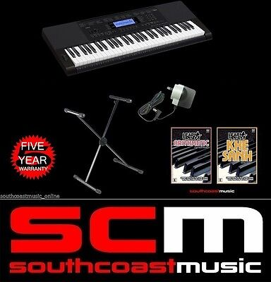 Casio Ctk5200 Digital Portable Arranger Electronic Keyboard +Stand Adaptor 2Dvds