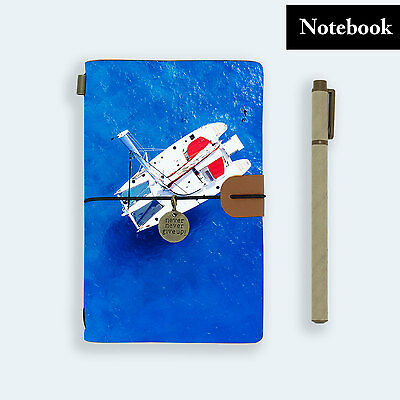 Hand Made Genuine Leather Journal Travel Diary Travelers Notebook Size Sailing