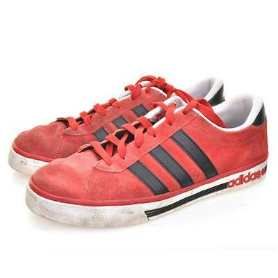 ADIDAS VINTAGE Neo Daily Team Suede Trainers UK 7 US 7.5 EU 40 Red Leather