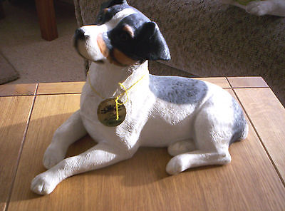 Large Lifelike Jack Russell Terrier Dog By The Famous Leonardo Collection