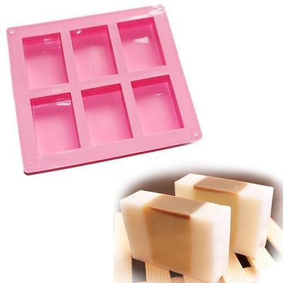 Silicone Rectangle Homemade Candle Soap Mold DIY Craft Cake Ice Making Mould LG