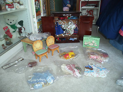 Huge Muffy VanderBear Lot! w/ tags and bag, all rare! Outfits and Furniture too!