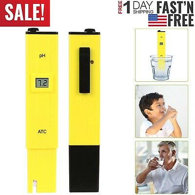 Digital PH Meter Water Hydroponics Pocket Pen Tester Aquarium Pond Pool Test New