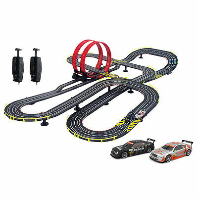 Slot Car Race Track Sets Electric Life Like Toy 1:43 Super Loop Speedway Racing