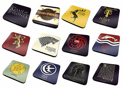 Game Of Thrones Coaster Stark Lannister Targaryen Official single 10cm x 10cm