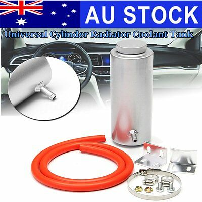 AU Alloy 800ml Cylinder Radiator Overflow Reservoir Coolant Tank Universal Can