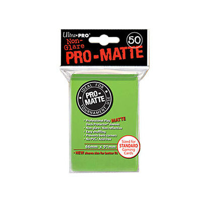 ULTRA PRO PRO-Matte - Deck Protector Sleeves Lime Green 50ct - 12 packs NEW
