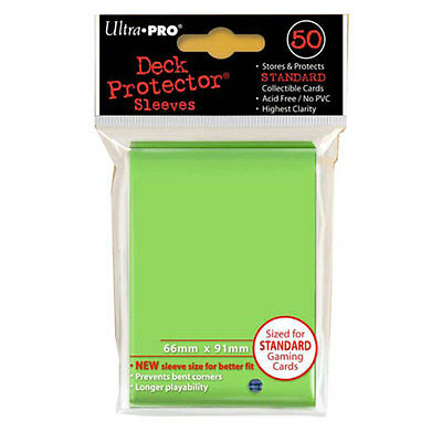 ULTRA PRO Solid Lime Green Deck Protector Sleeves Standard Size 12 packs NEW