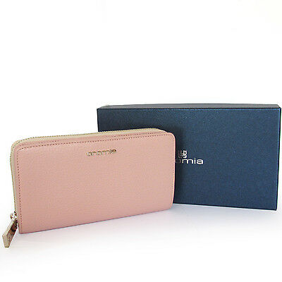 CROMIA Made in Italy portafoglio donna in pelle rosa women's pink leather wallet