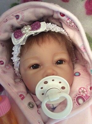 "Adorable Lifelike ""npk"" Reborn Baby Girl Doll With Half Atomically Correct Body"